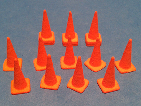 1/50 Traffic Cones in Orange Strong & Flexible Polished