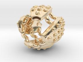 Stadium Ring in 14k Gold Plated Brass