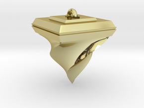 Twisted Pyramid in 18k Gold Plated Brass