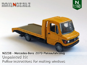 Mercedes-Benz 207D Plateaufahrzeug (N 1:160) in Smooth Fine Detail Plastic