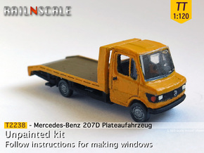 Mercedes-Benz 207D Plateaufahrzeug (TT 1:120) in Smooth Fine Detail Plastic
