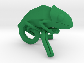 Chameleon - Keychain  in Green Processed Versatile Plastic