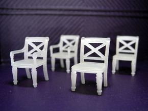 1:48 Phyfe Chairs, Set of 4 in Smooth Fine Detail Plastic