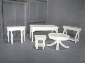1:48 Set of Tables in Smooth Fine Detail Plastic