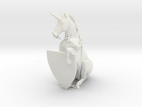 Unicorn in White Natural Versatile Plastic
