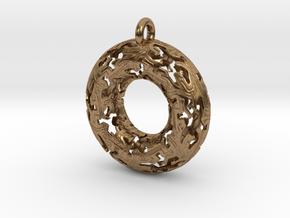 Reptiles Pendant - 2 Inch version. in Natural Brass