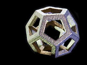 Dodecahedra, 1 Inch, 5 sided sections - smpl matrl in Stainless Steel
