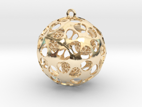 Hadron Ball - 4cm in 14k Gold Plated Brass