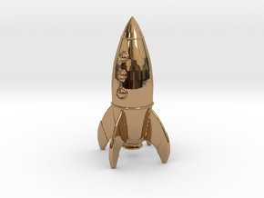 Rocket in Polished Brass