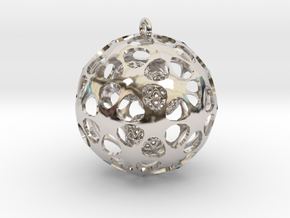 Hadron Ball - 3.8cm in Rhodium Plated Brass