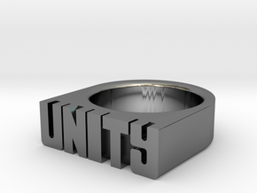 13.3mm Replica Rick James 'Unity' Ring in Fine Detail Polished Silver