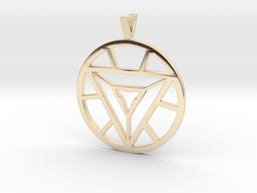 Iron Man Arc Reactor Pendant in 14k Gold Plated Brass