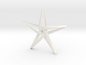 Star in White Processed Versatile Plastic