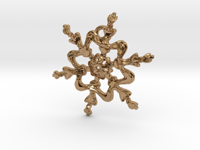 Snowflake Flower 1 - 30mm Ha in Polished Brass