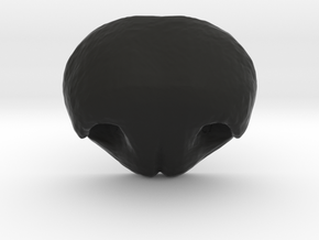 Dog nose - version 11 - 35mm wide in Black Natural Versatile Plastic