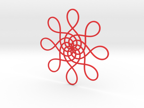 Tree Ornament  in Red Processed Versatile Plastic