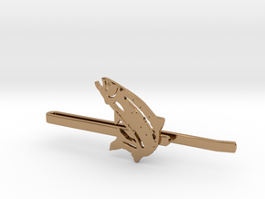 Trout Tie Clip in Polished Brass
