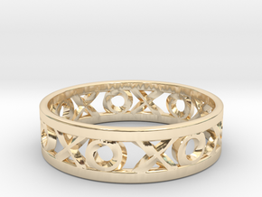 Size 6 Xoxo Ring in 14k Gold Plated Brass