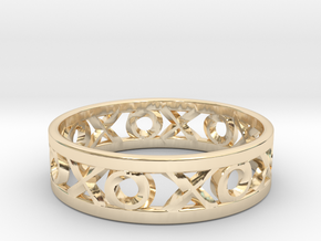 Size 10 Xoxo Ring in 14k Gold Plated Brass