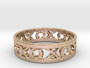 Size 12 Xoxo Ring in 14k Rose Gold Plated Brass