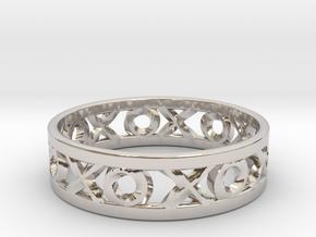 Size 13 Xoxo Ring in Platinum