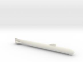 November-Class SSN, Full Hull w/ Sonar, 1/2400 in White Natural Versatile Plastic