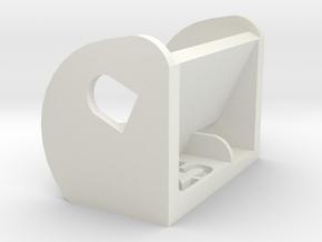 25º FPV Camera Mount in White Natural Versatile Plastic