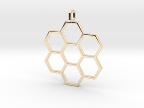 Honeycomb Pendant in 14K Yellow Gold