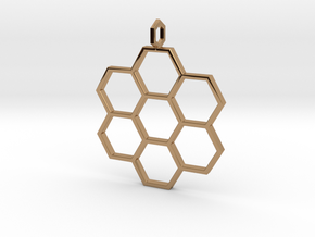 Honeycomb Pendant in Polished Brass