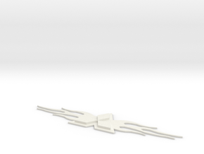 Mitsubishi Badge in White Natural Versatile Plastic