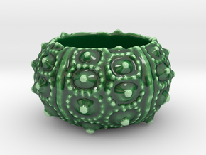 Porcelain Sea Urchin Candle Holder in Gloss Oribe Green Porcelain