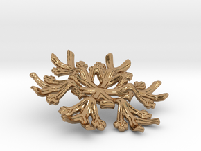 Snowflake Candle Stand - d=70mm in Polished Brass