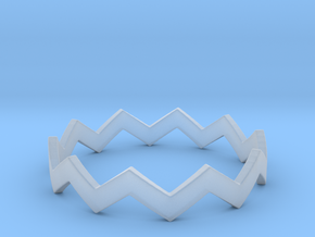 Zig Zag Wave Stackable Ring Size 12 in Smooth Fine Detail Plastic