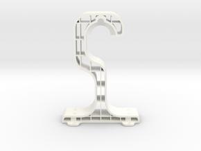 Easy access under shelf spool hanger in White Processed Versatile Plastic