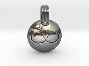 Infinity in Fine Detail Polished Silver