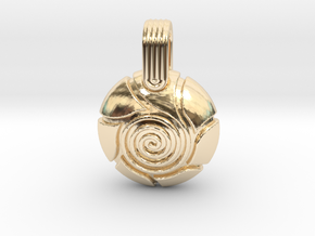 Spiral in 14k Gold Plated Brass