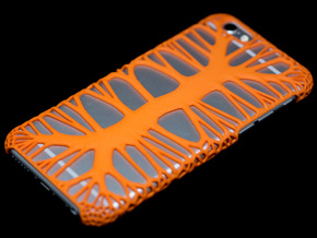 iPhone6 Case Endless Tree (Extreme Voronoi Ed.) in Orange Strong & Flexible Polished