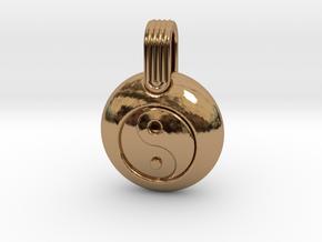 Yin Yang in Polished Brass
