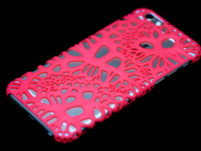iPhone6 Case Wave (Extreme Voronoi Edition) in Red Strong & Flexible Polished