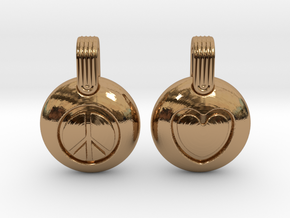 Peace & Love in Polished Brass