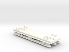 GWR 6 Wheeled Siphon Chassis (Part 1) in White Processed Versatile Plastic
