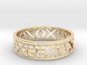 Size 10 Xoxo Ring A in 14k Gold Plated