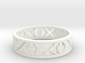 Size 8 Xoxo Ring A in White Processed Versatile Plastic