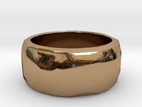 CODE: WP62 - RING SIZE 7 in Polished Brass