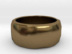 CODE: WP62 - RING SIZE 7 in Polished Bronze
