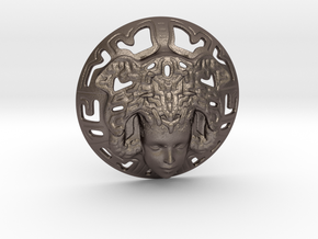 Mayan Princess 7 Cm in Polished Bronzed Silver Steel