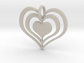 Heart Pendant in Natural Sandstone