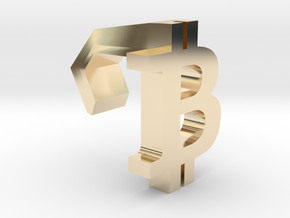 iMac Camera Cover - Bitcoin Logo in 14k Gold Plated Brass
