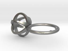 3D MINI STAR GLITZ SPARKLE RING - size 8 in Natural Silver