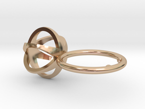 3D MINI STAR GLITZ SPARKLE RING - size 8 in 14k Rose Gold Plated Brass